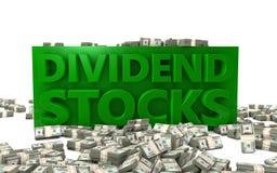 Dividenden-Aktien Stockfotografie