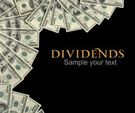 Dividends background concept and place for the text Stock Image