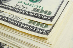 Dividends. Cash dollars lying on the plane royalty free stock images