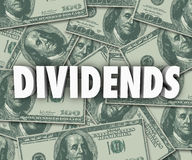 Dividends Earning Money Profits Stock Investments Stock Image