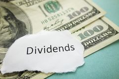 Dividends payment Royalty Free Stock Image