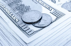 Dividends. Still Life with cash dollars and cents US royalty free stock image