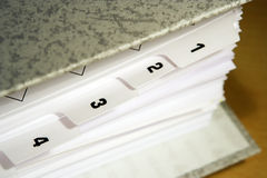 Dividers. File with dividers, paperwork Royalty Free Stock Photography