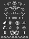 Dividers, border and line art design elements Royalty Free Stock Photos