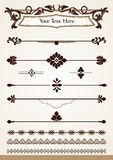 Dividers, borders and page decorations Royalty Free Stock Image