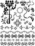 Dividers, decorations, ornaments and separators. Unique graphics useful as page dividers, decorations, ornaments and separators. Flower and butterfly designs Royalty Free Stock Photography