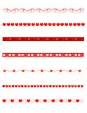 dividers dekoracyjny valentine Obrazy Stock