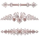 Dividers filigree. Different dividers in ancient look vector illustration