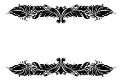 Dividers. Filigree floral decorations isolated on white background. Vector illustration stock illustration