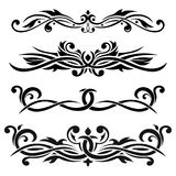 Dividers. Floral decorative ornaments. Vector illustration isolated on white background Stock Photography