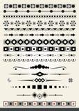 Dividers i granicy, geometryczny styl Zdjęcie Stock