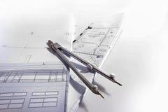 Dividers na architektonicznym projekcie obraz royalty free