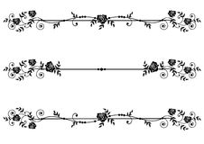 Dividers with roses. Vector floral set of dividers with roses in black and white Royalty Free Stock Photography