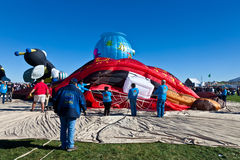 Dividindo o balão de ar quente Imagem de Stock