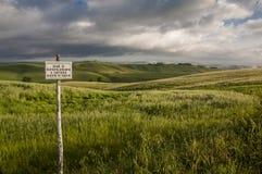 Divieto di caccia, Toscana, Italia Immagini Stock Libere da Diritti