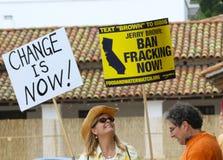 Divieto Fracking ora Immagine Stock Libera da Diritti