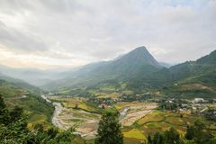 Divieto Ho Village, distretto di Sapa, Lao Cai Province, Vietnam di nord-ovest Immagini Stock Libere da Diritti