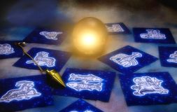 divination αστρολογίας Στοκ φωτογραφία με δικαίωμα ελεύθερης χρήσης