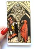 Divination καρτών Tarot απόκρυφος μαγικός στοκ φωτογραφίες με δικαίωμα ελεύθερης χρήσης