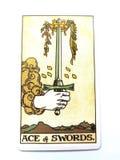 Divination καρτών Tarot απόκρυφος μαγικός στοκ φωτογραφία με δικαίωμα ελεύθερης χρήσης