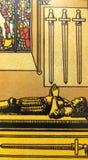 Divination καρτών Tarot απόκρυφος μαγικός στοκ εικόνα