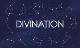 Divination Divine Belief Faith Fortune Holy Mystic Concept.  vector illustration