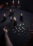 Divination par les runes magiques Photos libres de droits
