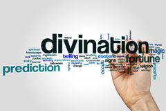 Divination word cloud stock photography
