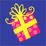 Divine box with golden ribbon Royalty Free Stock Image