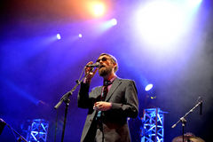 The Divine Comedy (band) live performance at Bime Festival Stock Image