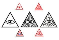 Eye of God. Divine eye, All Seeing Eye of God, Eye of Providence royalty free illustration