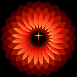 Divine Holy Cross. Holy cross depicted in meditative state Royalty Free Stock Photos