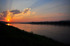 Divine light with river Stock Photography