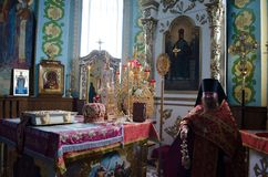 Divine Liturgy in the Orthodox Church in Gomel (Belarus) is 24 April 2015. Royalty Free Stock Images