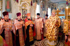 Divine Liturgy in the Orthodox Church in Gomel (Belarus) is 24 April 2015. Stock Image