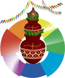 Divine Mangal Kalash and Coconut Royalty Free Stock Images