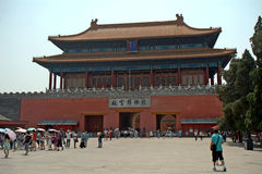 The Divine Military Genius Gate in the Forbidden City, Beijing, Stock Image