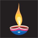 Divine pot lamp in black canva Stock Images