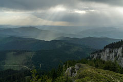 Divine revelation. In the mountains Stock Photos