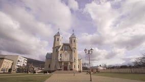 Greco Catholic Church. Divine service in the Greek church of the Catholic Church stock video