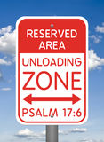 Divine Sign, Unloading Zone royalty free stock images