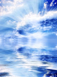 Divine sky. A sky with Divine rays of light stock images