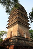 Divine Treasure Pagoda. Spirit Pagoda aka Lingyun tower, because it stands in Sichuan Province Leshan City Lingyun temple after the peak of the ancient city, has Stock Photos
