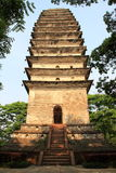 Divine Treasure Pagoda. Spirit Pagoda aka Lingyun tower, because it stands in Sichuan Province Leshan City Lingyun temple after the peak of the ancient city, has Royalty Free Stock Photo