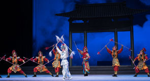 "Divine troops descending from heaven-The sixth act water overflows golden hill-Kunqu Opera""Madame White Snake"" Royalty Free Stock Photography"
