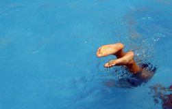 Diving stock image