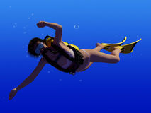 Diving. Royalty Free Stock Images
