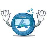 Diving Ardor coin character cartoon. Vector illustration Stock Photography