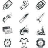 Diving black icons Stock Photography
