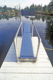 Diving board and pier at Purity Spring, NH Stock Photo